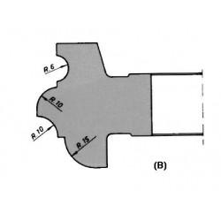 Perfil (B) D.160 50 eje HSS