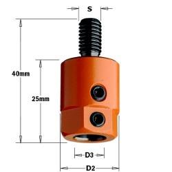 D3 10 D2 19,5 izq. rosca M8