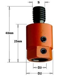 D3 8  D2 16 izq. Rosca M10