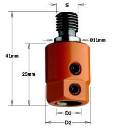 D3 8 D2 16 dere. Rosca M10/11