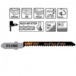 5 Hojas sierra p/madera I-50 L-76 pas 2