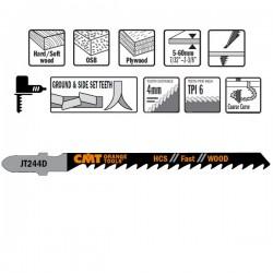 5 Hojas sierra p/madera I-75 L-100 paso  4