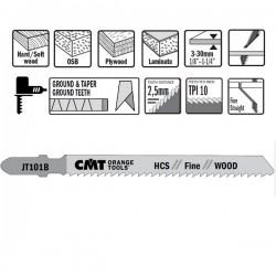5 Hojas sierra p/madera I-75 L-100 paso 2,5