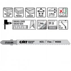 Hoja sierra p/madera y plast. I-75 L-100 paso 2,5