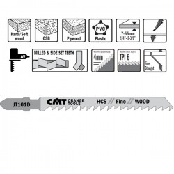 Hoja sierra p/mad. y plast. I-75 L-100 paso 4