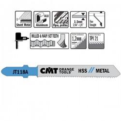 Hoja de sierra p/metal I-50 L-76 paso 1,2
