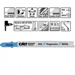 Hoja sierra p/metal I-75 L-100 paso prog.1,2/2,6