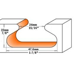 Fresa tirador 2Z D.47,6 I-28,5 S-12 MD