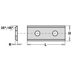Cuchilla 40x12x1,5 MD HC05