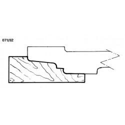 Perfil 071/32 D.210 50 eje HSS