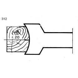 Perfil 312 D.140 50 eje HSS