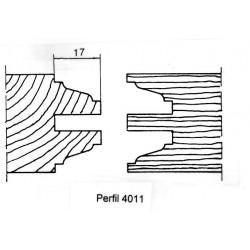 Perfil 4011 D.160 50 eje HSS