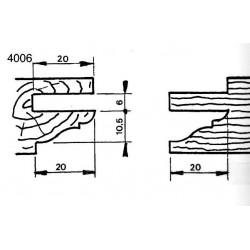 Perfil 4006 D.150 50 eje HSS