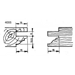 Perfil 4005 D.150 50 eje HSS
