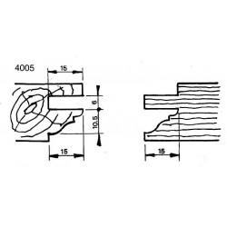 Perfil 4005 D.150 50 eje MD