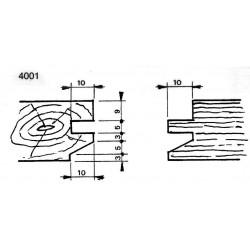 Perfil 4001 D.140 50 eje HSS