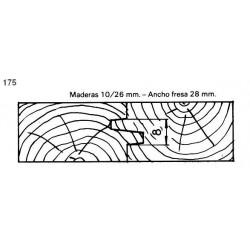 Perfil 175 D.140 50 eje MD