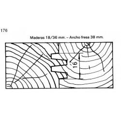 Perfil 176 D.140 50 eje HSS